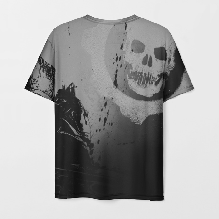 Collectibles Men'S T-Shirt Skull Print Gears Of War 5 Grey