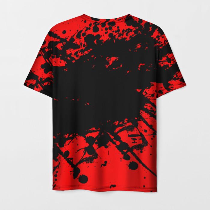Merch Men'S T-Shirt Stalker Red Logo Design