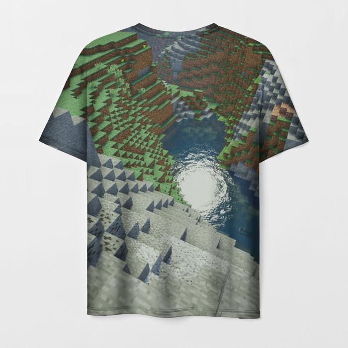 Merch Men'S T-Shirt Game Design Minecraft Landscape