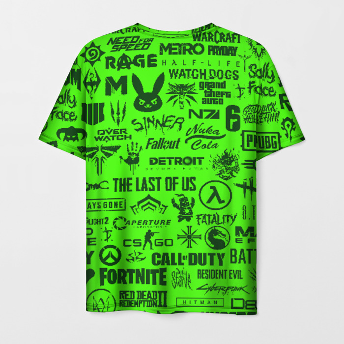 Merchandise Men'S T-Shirt Logos Game Fortnite Green Image