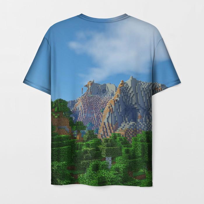 Merchandise Men T-Shirt Minecraft Landscape Print