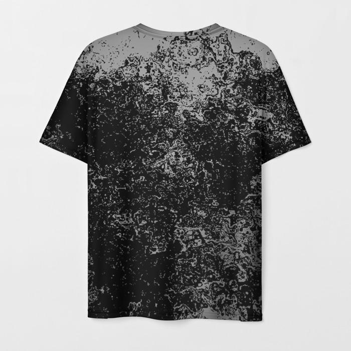 Merch Men T-Shirt Gears Of War Black Skull Print