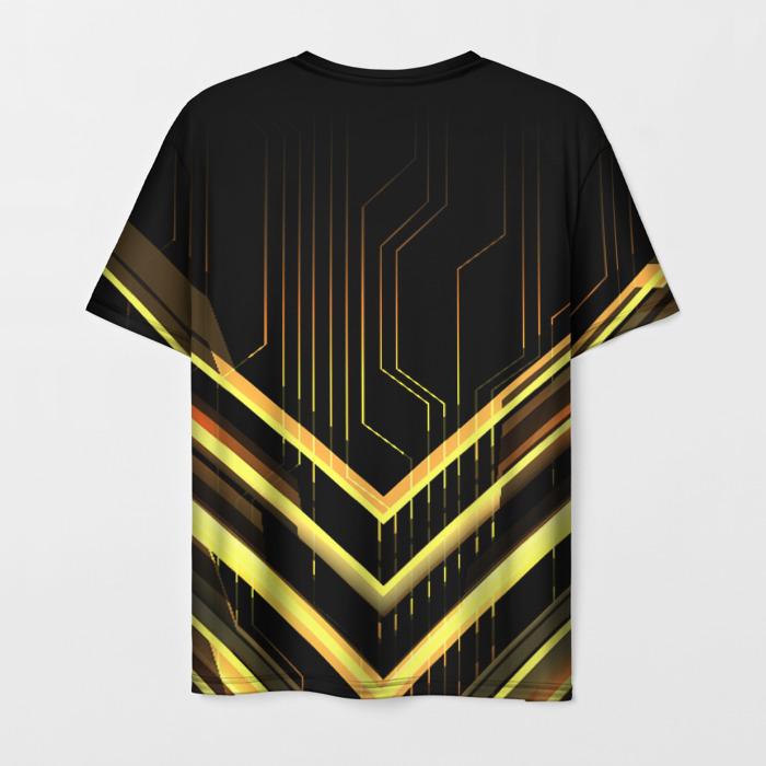 Merch Men T-Shirt Title Stalker Print Black