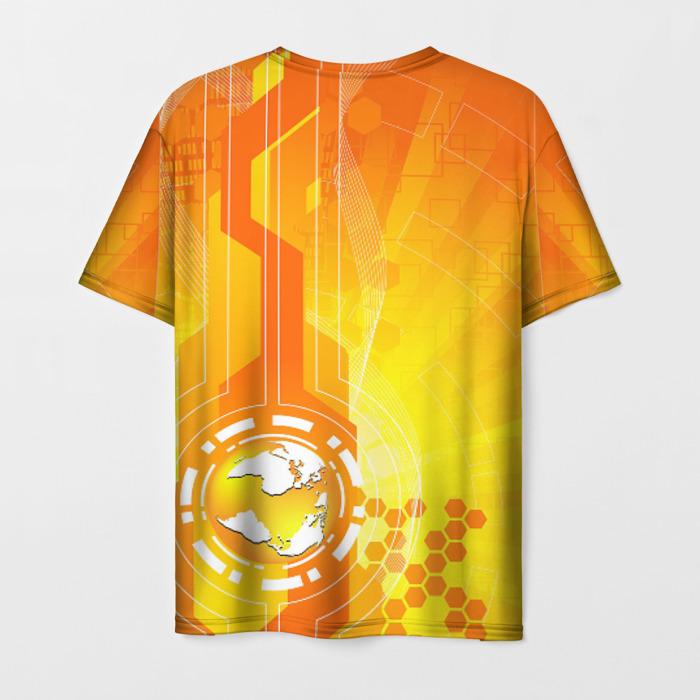 Merchandise Men'S T-Shirt Orange Print Counter-Strike Merch