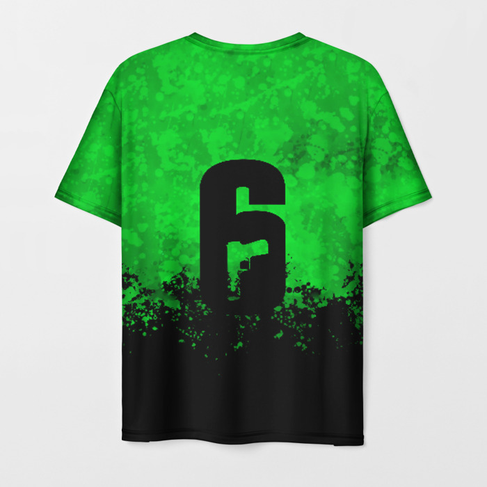 Merchandise Men'S T-Shirt Green Text Design Rainbow Six Siege