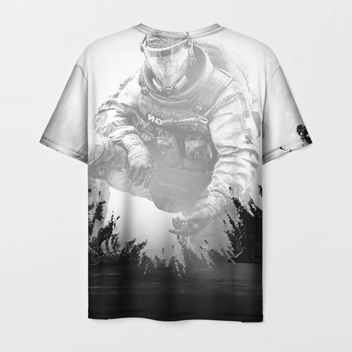 Merch Men'S T-Shirt Grau Emblem Print Rainbow Six Siege