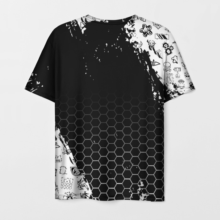 Merch Men'S T-Shirt Image Text Rainbow Six Siege Black