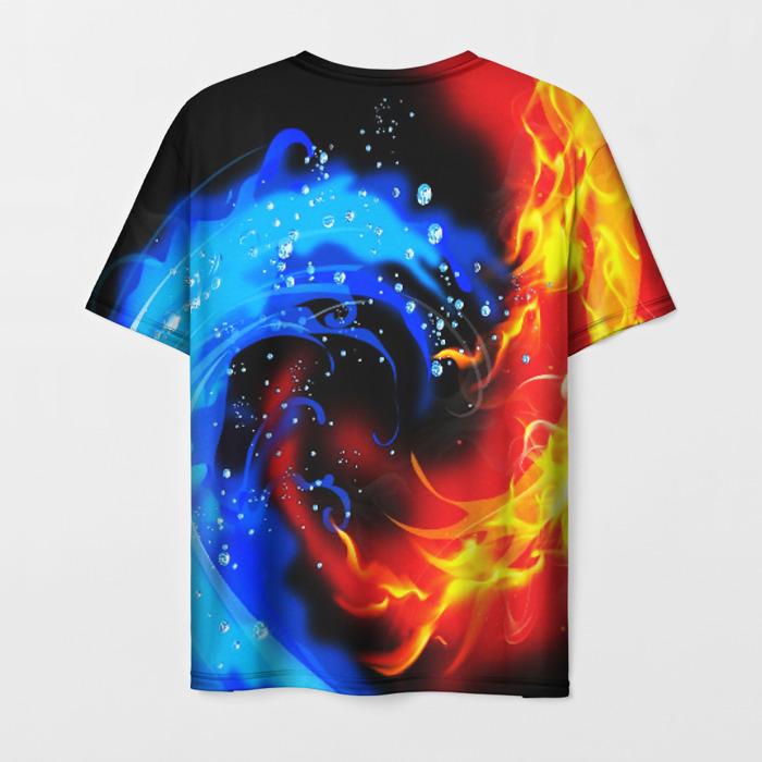 Merchandise Men'S T-Shirt Fire Vs Ice Design Stalker