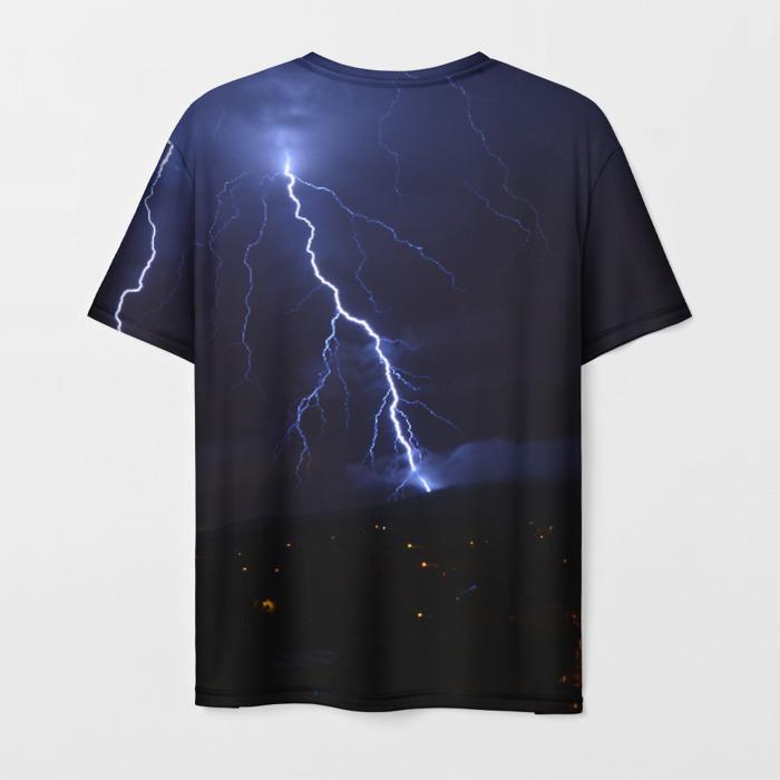Merchandise Men'S T-Shirt Lighting Black Counter-Strike Print