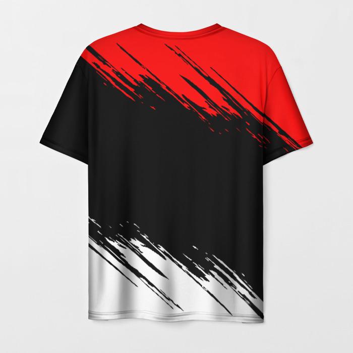Merch Men'S T-Shirt Emblem Samurai Label Cyberpunk Print