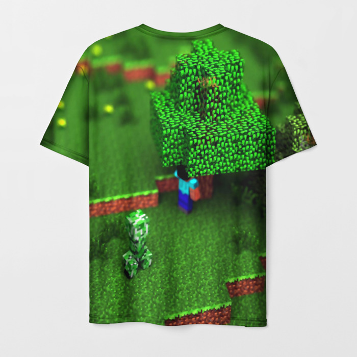 Collectibles Men'S T-Shirt Green Print Text Minecraft
