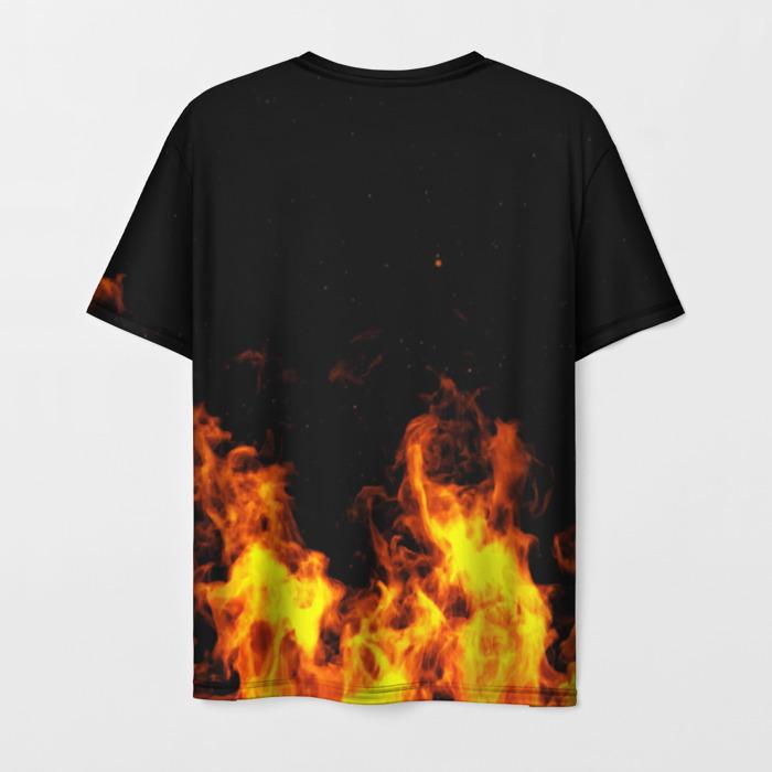 Merchandise Men'S T-Shirt Flame Print Game Lineage Design
