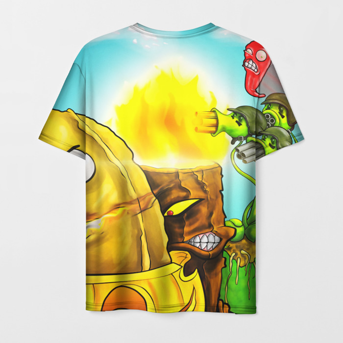 Merch Men'S T-Shirt Design Scene Plants Vs Zombies Print