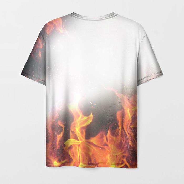 Merchandise Men'S T-Shirt Flame White Print Call Of Duty