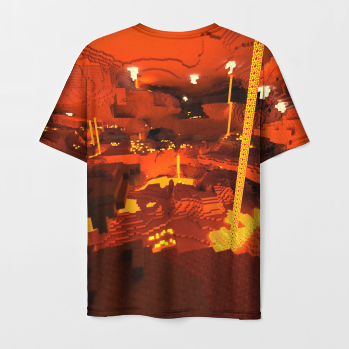 Collectibles Men'S T-Shirt Print Minecraft Scene Lable