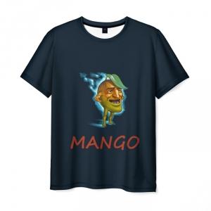 Merchandise Men'S T-Shirt Mango Dota Black Print
