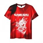 Collectibles Men'S T-Shirt Cyberpunk 2077 Samurai Label Print Text