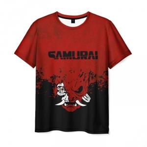 Collectibles Men'S T-Shirt Samurai Cyberpunk 2077 Red Text Print