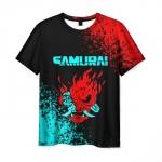 Collectibles Men'S T-Shirt Cyberpunk 2077 Samurai Merch Print