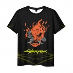 Collectibles Men'S T-Shirt Cyberpunk 2077 Samurai Black Print