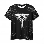 Merch Men'S T-Shirt The Last Of Us Sign Black Print