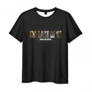 Collectibles Men'S T-Shirt The Last Of Us Black Label Print