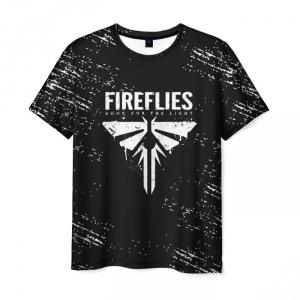 Collectibles Men'S T-Shirt The Last Of Us Print Design Black