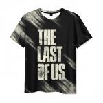 Merch Men'S T-Shirt The Last Of Us Text Black Print
