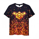 Merchandise Men'S T-Shirt Brawl Stars Gold Design Print