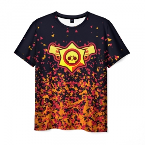 Collectibles Men'S T-Shirt Brawl Stars Gold Design Print