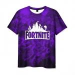 Merch Men'S T-Shirt Fortnite Purple Print Text