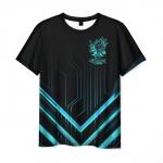 Merch Men'S T-Shirt Cyberpunk 2077 Black Print Design