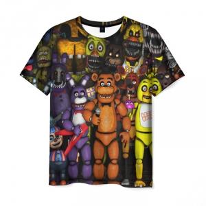Merch Men T-Shirt Five Nights At Freddys Animatronics