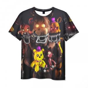 Merch Men T-Shirt Five Nights At Freddys Fazbear