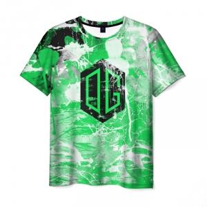 Merchandise Men T-Shirt Og Team Logo Dota 2 Green
