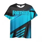 Collectibles Men T-Shirt Fortnite Blue Line Stripes
