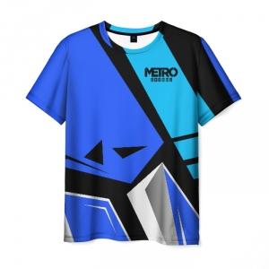 Merch Metro 2033 Exodus Men T-Shirt Blue Split