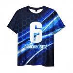 Merchandise Rainbow Six Siege Men T-Shirt Blue Lines