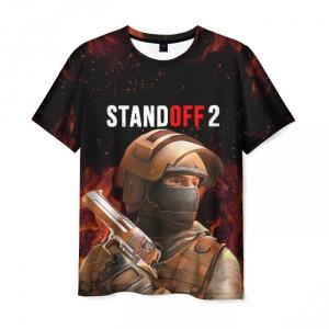 Merch Standoff 2 Counter-Terrorist Men T-Shirt Fire Black