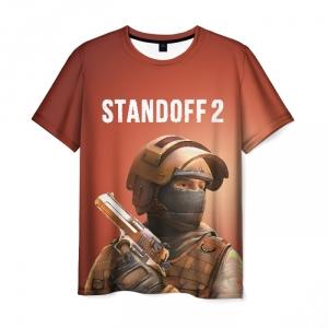 Merch Standoff 2 Counter-Terrorist Men T-Shirt Brown