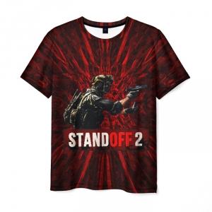 Merch Men T-Shirt Standoff2 Dark Red Soldier