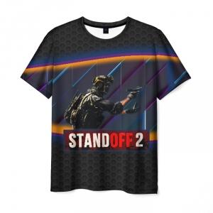 Merch Men T-Shirt Standoff 2 Neon Soldier