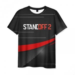 Merch Men T-Shirt Standoff 2 Red Line Black