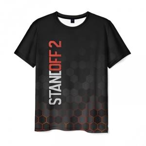 Merch Standoff 2 Hexagon Mesh Men T-Shirt Black