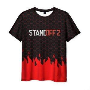 Merch Standoff 2 Red Fire Hexes Men T-Shirt Black