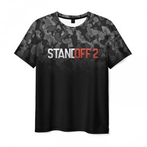 Merch Men T-Shirt Standoff 2 Black Camouflage