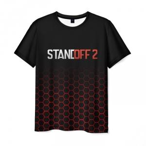 Merch Standoff 2 Men T-Shirt Hexagons Pattern Black