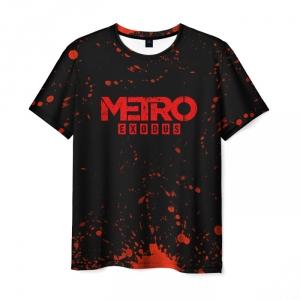 Merch Men T-Shirt Metro 2033 Exodus Black