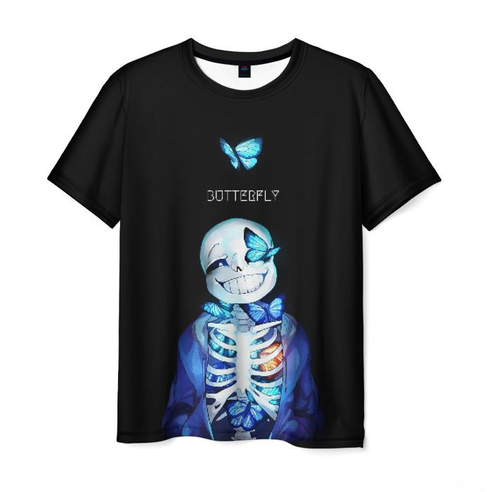 Collectibles Undertale Men T-Shirt Sans Butterfly Pixel Art