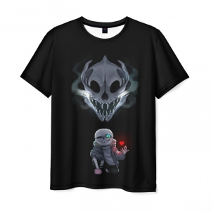 Merchandise Undertale Men T-Shirt Sans Pixel Art Black